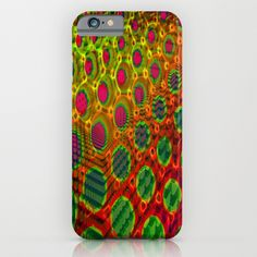 Fractal Descent #2 - Geometric Optical Illusion Psychedelic Void Trippy Colorful Design iPhone & iPod Case