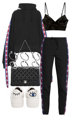 """Untitled #2474"" by mariie00h ❤ liked on Polyvore featuring Vetements, Betsey Johnson, Chanel and ASOS"