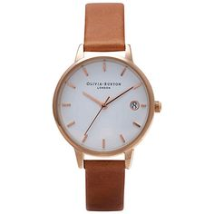 Buy Grey/White Olivia Burton Women's The Dandy Leather Strap Watch from our Women's Watches range at John Lewis & Partners. Olivia Burton, Emporio Armani, Fossil, Grey Watch, Thing 1, Rose Gold Watches, White Watches, Rose Gold Jewelry, Gold Jewellery