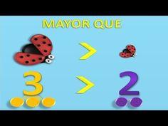 Mayor Que, Menor Que, Igual Que, Matemáticas Para Niños (Video Infantil) - YouTube