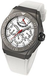 TW Steel CEO White Dial White Rubber Mens Watch CE5002