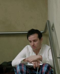 Andrew Scott gif ... oh... and I even love the jam- jams << aww, I just want to hug him. :(