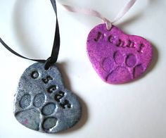 Dog Paw Print Ornament....need to do this...Scoot isn't getting any younger!