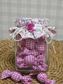 Easy Crafts To Sell, Diy And Crafts, Crafts For Kids, Paper Crafts, Lavender Crafts, E Craft, Craft Markets, Diy Wedding Favors, Jar Gifts