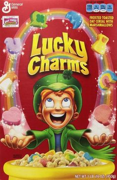 2 x Lucky Charms Cereal 453g Large Box  American Import