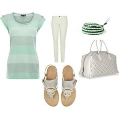 Cool Mint, not sure about the drawers!!! <3 the shirt