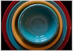 Fiesta Ware ~ Scarlet, Turquoise, and Sunflower