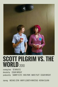 Iconic Movie Posters, Minimal Movie Posters, Movie Poster Art, Iconic Movies, Poster Wall, Good Movies, Movie Collage, Scott Pilgrim, Film Poster Design