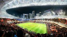 Arquitectonica Proposes David Beckham's MLS Stadium for Port of Miami