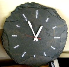 Wall clock in slate