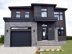 Sims House Design, Bungalow House Design, House Front Design, Modern House Design, House Paint Exterior, Dream House Exterior, Exterior Design, Beautiful House Plans, Dream House Plans