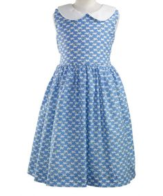 Another great find on #zulily! Blue & White Cat Sleeveless Dress - Infant, Toddler & Girls #zulilyfinds