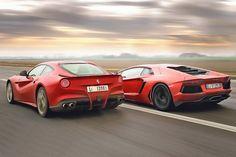 Ferrari F12 Berlinetta vs. Lamborghini Aventador