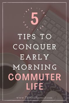 Waking up early to drive to campus can be rough, but it doesn't have to be! This blog post offers 5 tips to conquer early morning commuter life to make getting up for early morning classes easier than ever! | This Girl Knows It | www.thisgirlknowsit.com | #college #university #commuter #campuslife #commutertips