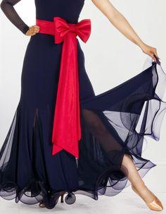 All lightness and swirls, ballroom dance skirt