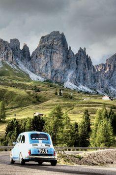 Le Dolomiti, Italy  with fiat 500
