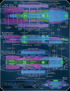 The BattleStar Galactica Files (Ep Spaceship Concept, Spaceship Art, Concept Ships, Marine Barracks, Kampfstern Galactica, Battlestar Galactica 1978, Space Battles, Sci Fi Ships, Star Trek Ships
