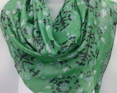 Sparkly Kelly Green Silk Shawl,  Lush Green Paisley Scarf,Mothers Day gift from Daughter,  Anniversary Gift idea Birthday Gift under 50 by blingscarves. Explore more products on http://blingscarves.etsy.com