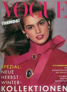 cindy crawford 90s vogue cover