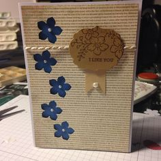 Stampin up flowers card  Made by Lyly on Facebook