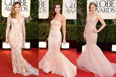 Grazia's favorite nude dresses @ Golden Globes