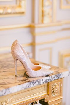 Dreamy shoes: http://www.stylemepretty.com/destination-weddings/2015/02/09/romantic-parisian-destination-wedding/ | Photography: One & Only Paris - http://oneandonlyparisphotography.com/