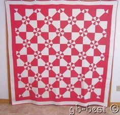 Oh So Pretty 1930s Pink White Pinwheel Vintage Quilt 80 x 78 Fresh Clean Nice | eBay