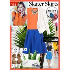 """Skater Skirt"" by dani-kolarova on Polyvore"