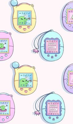 Please mami buy me a tamagotchi Mood Wallpaper, Kawaii Wallpaper, Wallpaper Backgrounds, Iphone Wallpaper, Dibujos Cute, Unicorn Art, Hippie Art, Kawaii Art, Cute Illustration