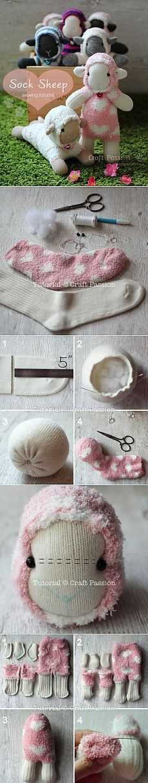 Sock Sheep - Free Sew Pattern