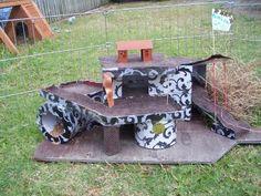 A Guinea Pig's play house - Guinea Pig Cage Photos ~ could be for buns. Diy Guinea Pig Cage, Guinea Pig House, Pet Guinea Pigs, Guinie Pig, Hedgehog Pet, Animal Room, Cute Piggies, Pet Cage, Diy Stuffed Animals