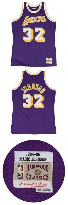 Basketball-NBA 24442: Magic Johnson Los Angeles Lakers Mitchell And Ness Nba Throwback Hwc Purple Jersey -> BUY IT NOW ONLY: $129.95 on eBay!