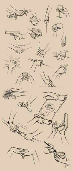 This would make an excellent writing prompt for creative writing exercises. Start with a vivid description of what a hand is doing, and work your way outward to the person, the situation, the stakes, etc. Hands Reference II, artist credit Ninjatic, from DeviantArt.