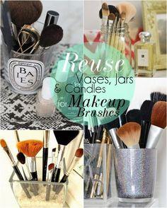 10 DIY Makeup Storage