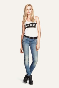 'For Real' printed tank top. HM. #HMDIVIDED