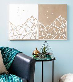 DIY Mountain Wall Art | Made with Cricut | Home Decor