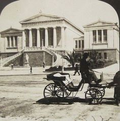 1901 - Carriage ride in Athens Greece Pictures, Time Pictures, Old Pictures, Old Photos, Vintage Photos, Attica Athens, Athens Greece, Greece History, Old City