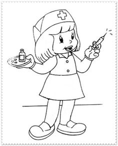 * Zuster... Preschool Coloring Pages, Coloring Sheets For Kids, Coloring Pages For Kids, Coloring Books, Kids Coloring, Art Drawings For Kids, Art For Kids, Community Workers, Human Drawing