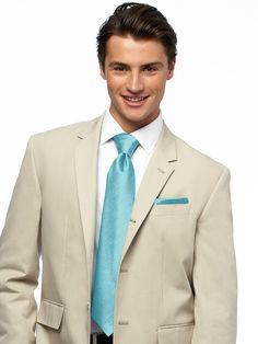 man in lightweight khaki suit