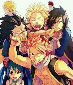 FAIRY TAIL ALL OF THE DRAGONS SLAYERS ❤ #LoveFairyTailForEver #NALU #DragonSlayers