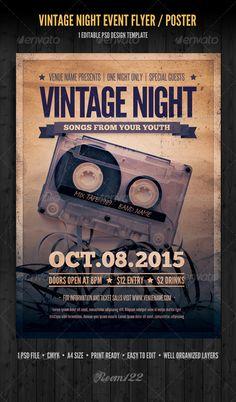 Vintage Night Event Flyer / Poster