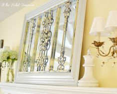 DIY iron grate mirror project tutorial. Upcycle an old grate and mirror into a beautiful pieces of wall decor for your home.