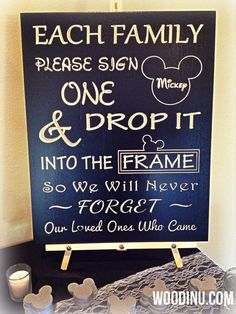 Personalized Disney Guestbook  Wedding Sign. Available at Boardman Printing.