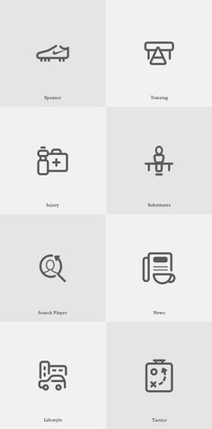 Free Game Icons by s-pov, via Behance