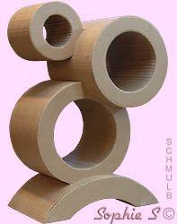 Meuble en carton en rondeur