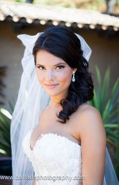 Gorgeous bridal hair and makeup http://www.balladsphotography.com