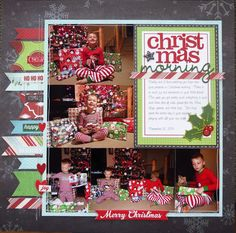 Christmas Morning - Left Side - Scrapbook.com