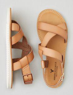 AEO Slingback Sandal , Tan | American Eagle Outfitters