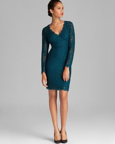 Adrianna Papell V Neck Lace Dress | Bloomingdale's, For Margaret's wedding?