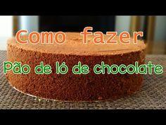 PÃO DE LÓ DE CHOCOLATE (para bolo de aniversário)